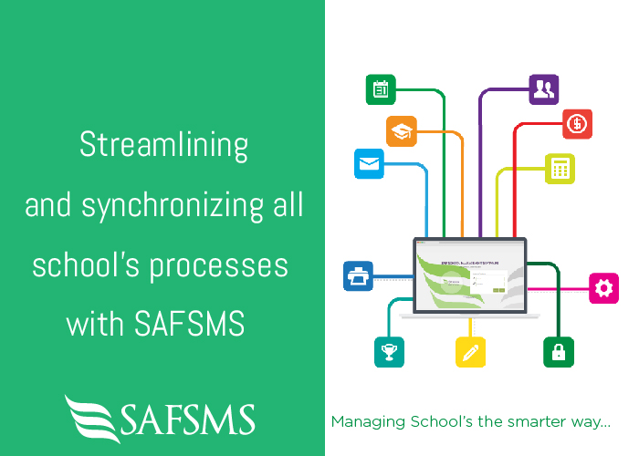 Streamlining and synchronizing all school's processes with SAFSMS