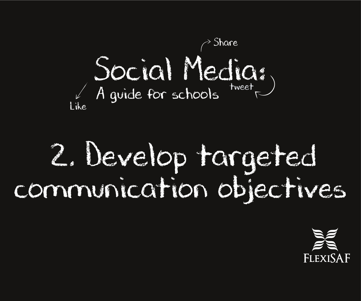 2. Develop targeted communications objectives