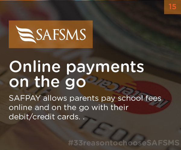 SAFSMS makes Online payments easy on the go