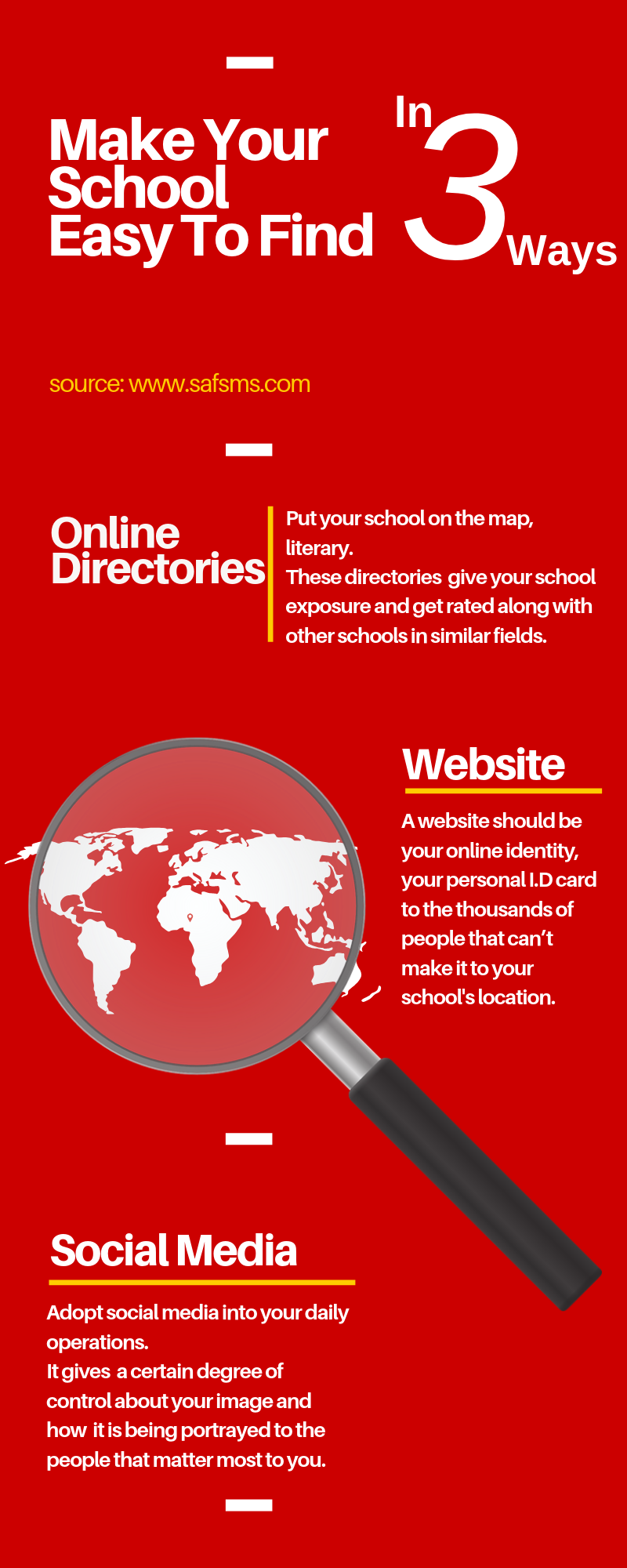 make your school easier to find
