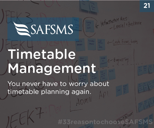 SAFSMS Plans Your Timetables