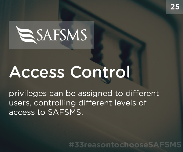 Control Access with SAFSMS