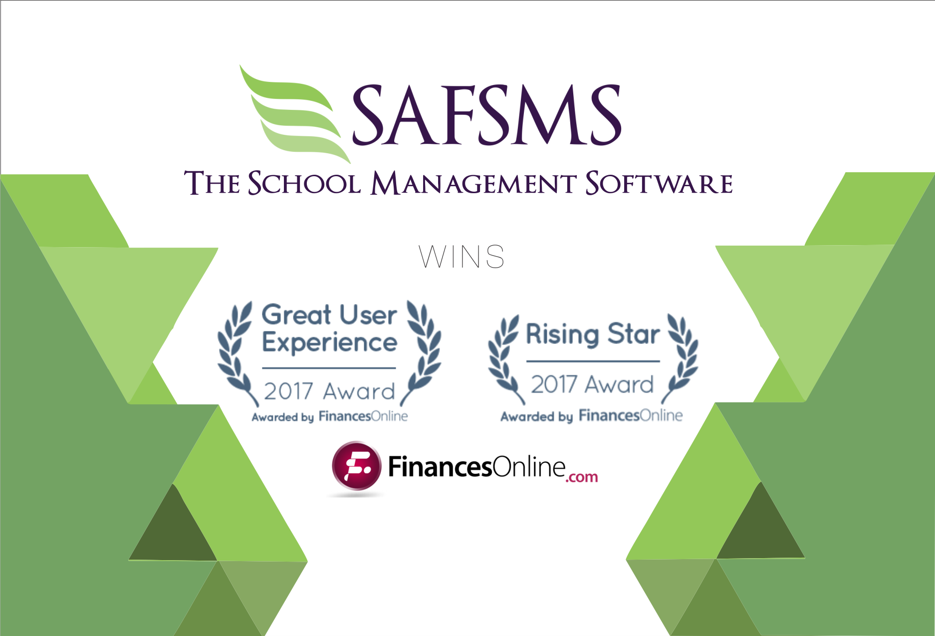 FinancesOnline grants 2 Awards to SAFSMS