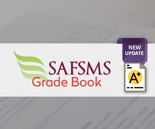Grade Book: SAFSMS New Update