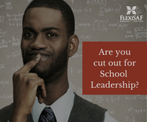 should you be a school leader/principal