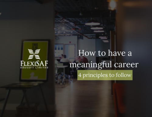 4 Principles To Follow For A Meaningful Career.