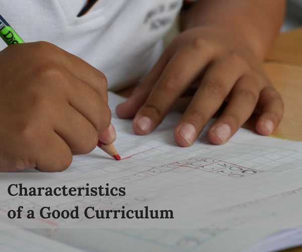 What Makes a Good Curriculum?